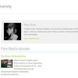 iversity profiles and forum posts are in markdown which I've fallen in love with recently. However, unlike Coursera, they don't have special boxes prompting students to enter web presences, so anyone less on-the-ball than the awesome Felix Rios here, might be invisible. You can't exactly blame iversity for this, but far more than NovoED or Coursera, they have SO MANY students with blank profiles. To put it in college terms, it's SO Lower Division here!