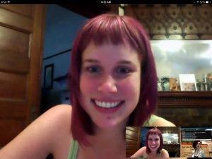 ScreenCap of Google Hangout with Katrina Schaag