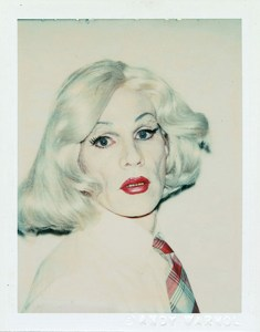 Polaroid photograph of Andy Warhol in drag.