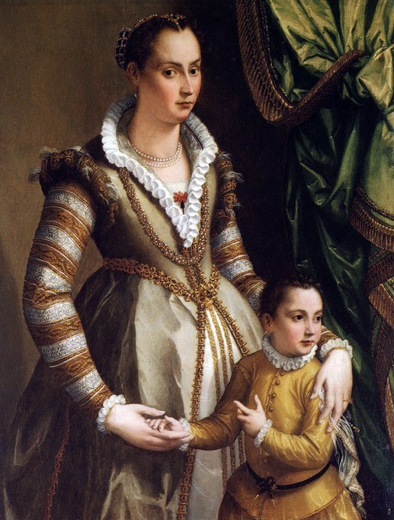 Isabella Medici with her son Virginio