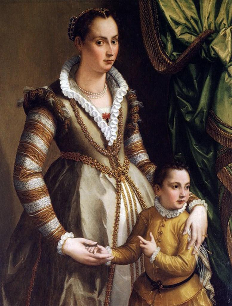 Isabella Medici with her son Virginio