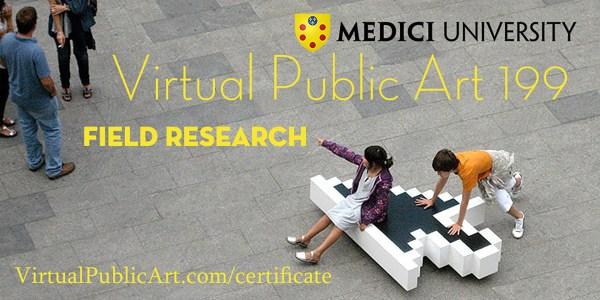 Virtual Public Art 199 Course Poster