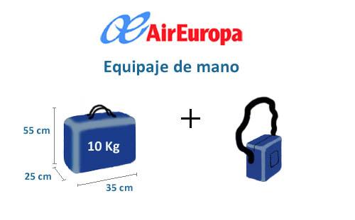 Medidas maletas Air Europa  MedidasMaletas 2019
