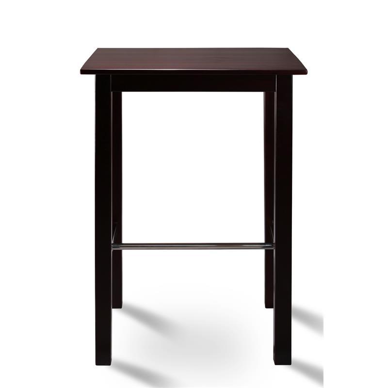 table de bar bistro table pin massif couleur wenge 75x75 bt 75 111