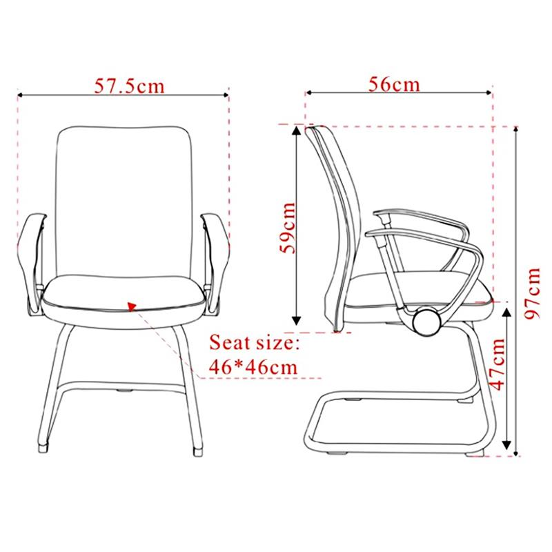 chaise de conference gris h 8125 7325
