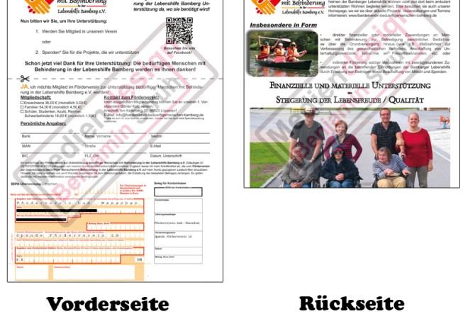 Förderverein zur Unterstützung bedürftiger Menschen mit Behinderung in der Lebenshilfe Bamberg e.V. Din A4-Einleger