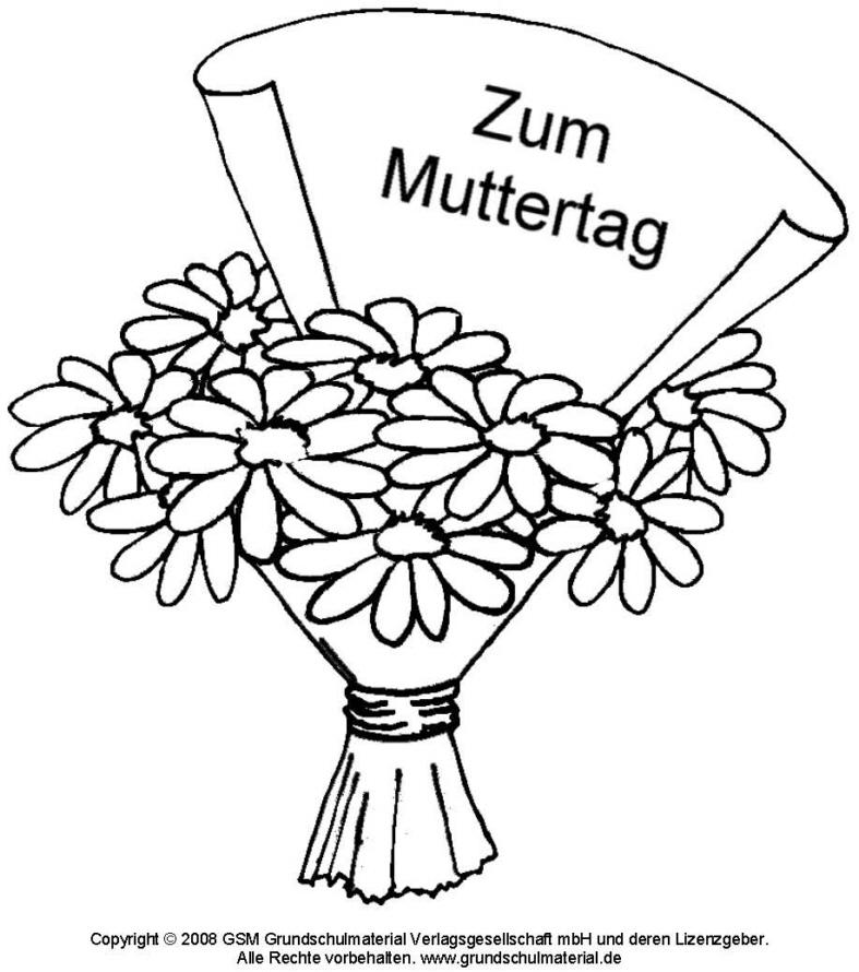 Ausmalbild - Blumenstrauß 3 - Medienwerkstatt-Wissen