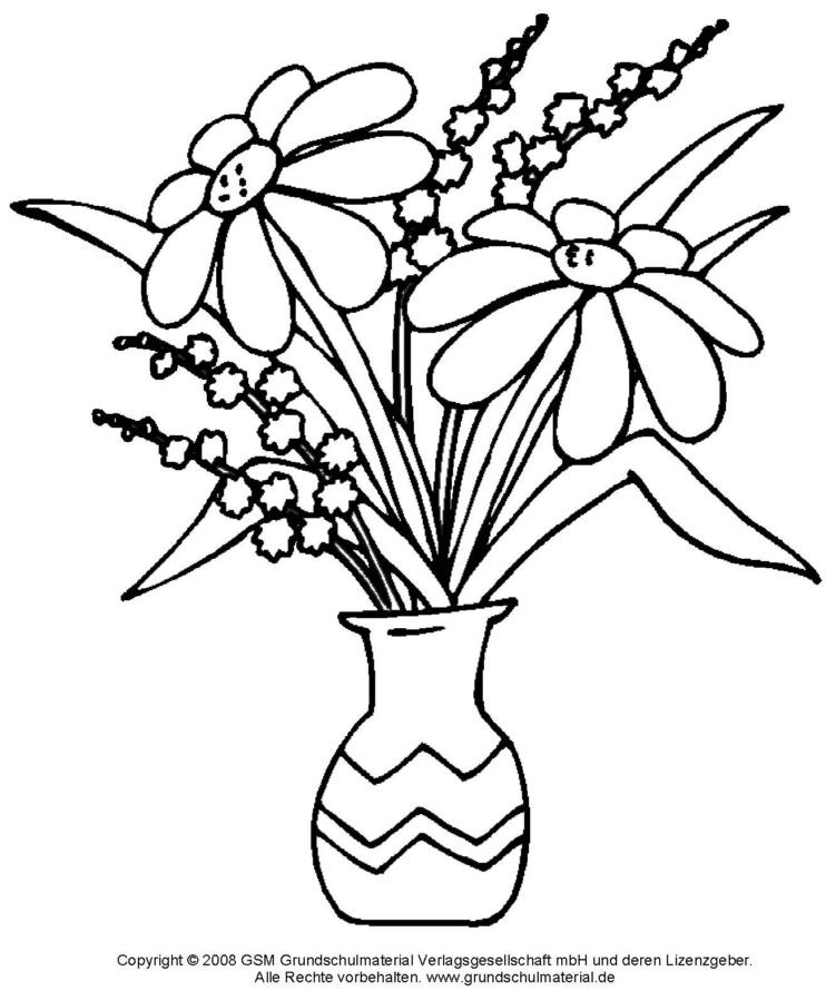 Ausmalbild - Blumenstrauß 5 - Medienwerkstatt-Wissen