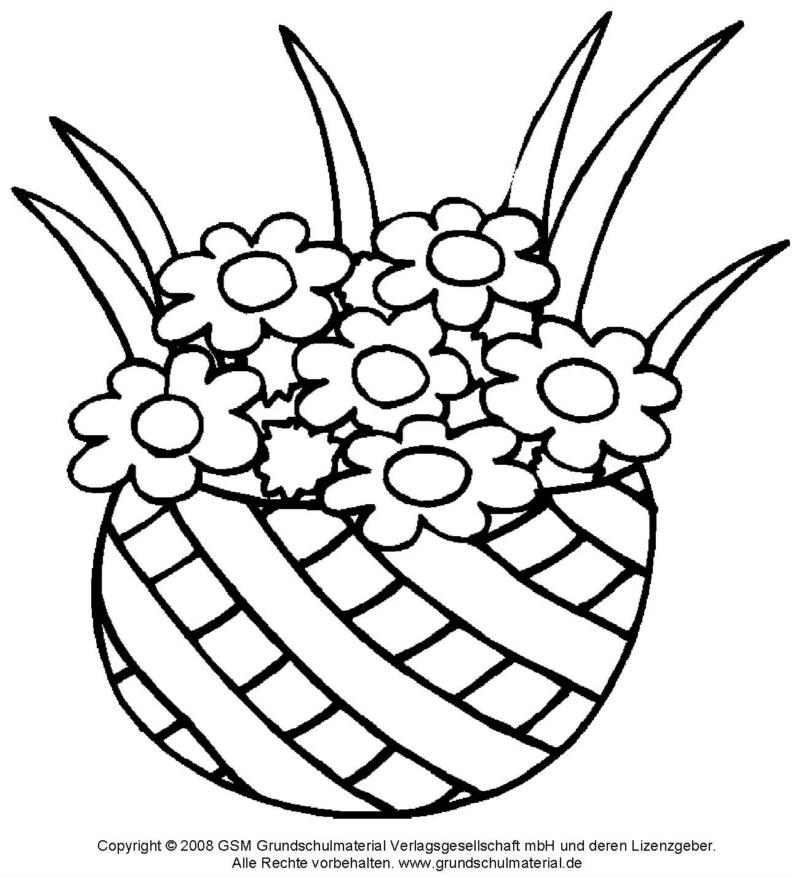 Ausmalbild - Blumenstrauß 7 - Medienwerkstatt-Wissen