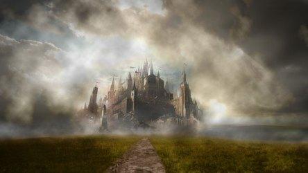 castle fantasy hd digital medieval neuschwanstein animasi imajinasi clouds desktop kastil gambar