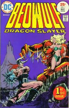 Beowulf: Dragon Slayer #1, written by Michael Uslan, illustrated by Ricardo Villamonte (1975)