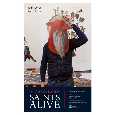 Michael Landy's Saints Alive exhibition poster from London's National Gallery