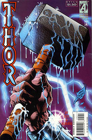 Thor, Vol. 1, #494 (Jan. 1996). Marvel Comics. Art by Mike Deodato. [Wikipedia]