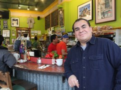Owner Eleazar Delgado, 46, says he opened the shop to give Pilsen residents a place to hang out. Cafe Jumping Bean was the first coffee shop to open south of Division Street, in the city's largely Latino neighborhood.