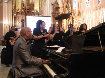 """The choir kicked off the two-hour long event with the song """"Lift Every Voice and Sing,"""" the Black National Anthem."""