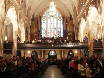 More than 2,000 people gathered Sunday in St. Michael the Archangel Church to honor the life of civil rights leader Martin Luther King, Jr. by addressing pressing social issues in Chicago.