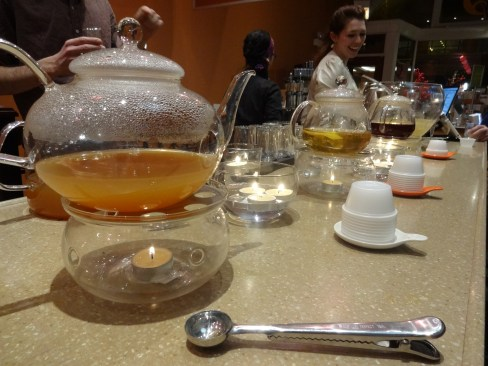 """In River North, Naperville and Skokie, Adagio Teas offers tea tastings and organizes free events such as """"evening cocktails"""" and """"explore the teas of the world."""""""