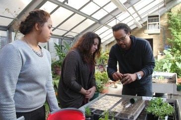 Pratt regularly works with students at their schools to install and help with aquaponics systems and gardens. (Anne Evans/MEDILL)