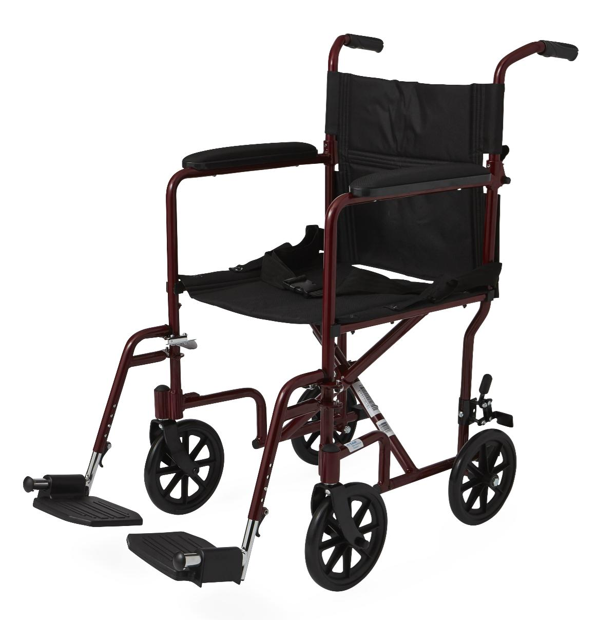 transport wheelchair used la z boy martin big and tall executive office chair reviews 19 seat width w four 8 wheels
