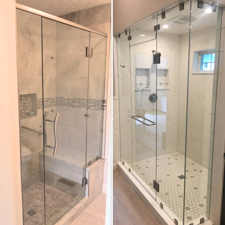 glass shower doors are a great addition