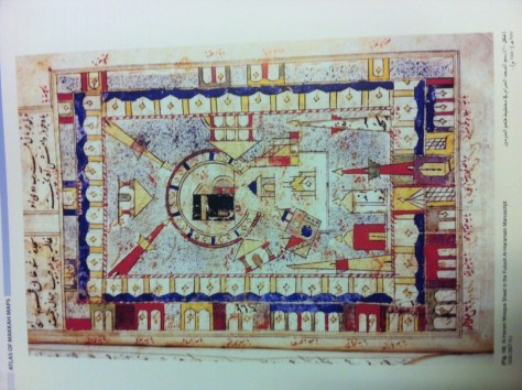 Image of A colorful map of al-Masjid al-Haram from the early Ottoman period.
