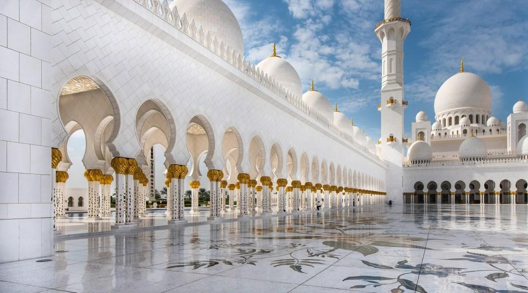 Image of Mosque in Abudhabi, UAE.