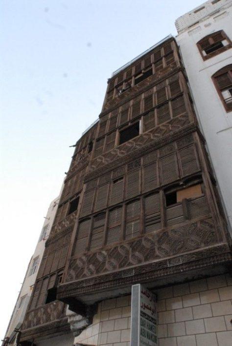 Rawashin (mashrabiyyahs) on a house in Makkah Image