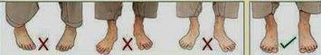 правильное расположение ног при кыяме