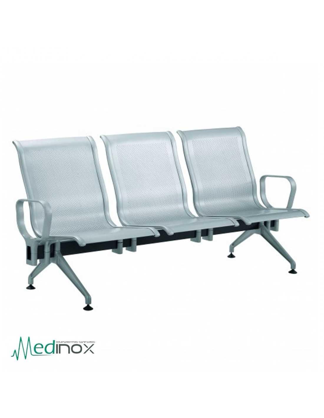 Sillas sala espera RLJAVA3 bancada 3 sillas de espera en