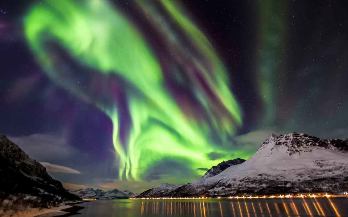 Aurora boreal at