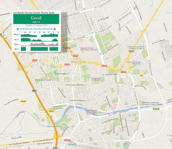 Mapa interactivo de la contaminación del aire del planeta en tiempo real