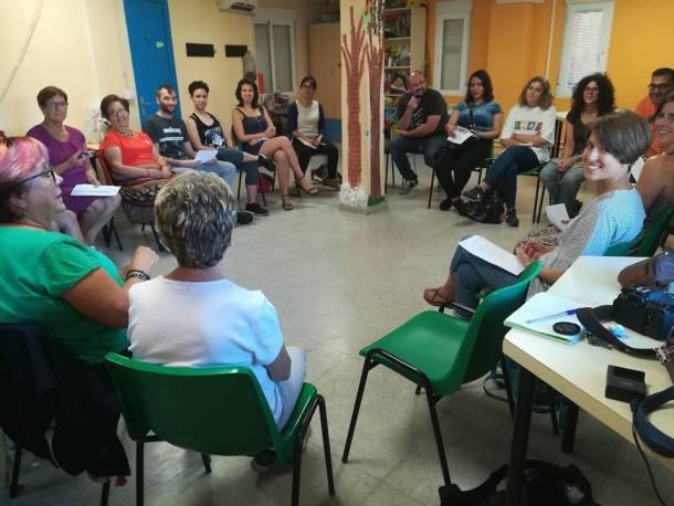 Una de las sesiones de un curso de radio anterior.
