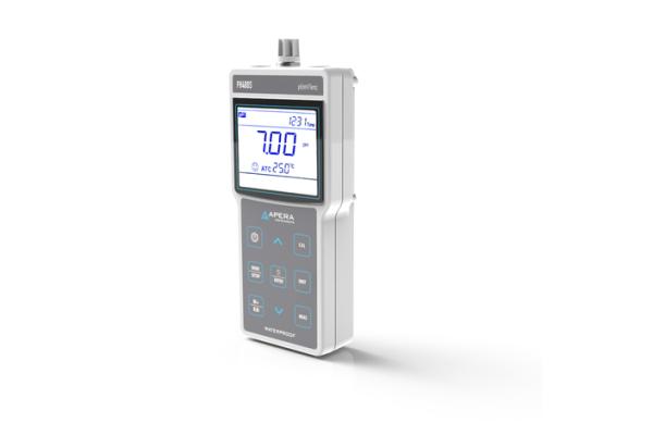 Medidor de pH portátil PH400S con administración de datos GLP y salida USB
