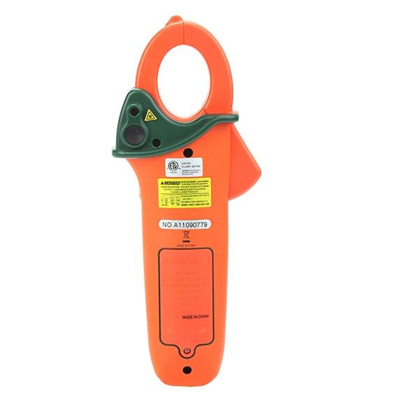 edidor con pinza de CA/CC con doble entrada de termopar incorporada