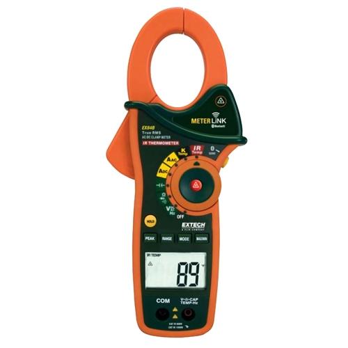 Pinza amperimétrica/DMM CA/CC de verdadero valor eficaz de 1000 A con termómetro de infrarrojos y Bluetooth MeterLink™