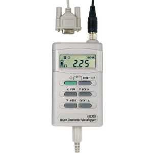 Registrador de datos/dosímetro de ruidos con interfaz de PC