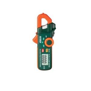 Pinza amperimétrica con detector de voltaje de CA y linterna incorporados