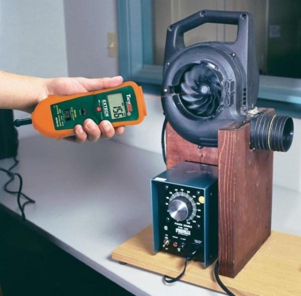 Fototacómetro por contacto con termómetro