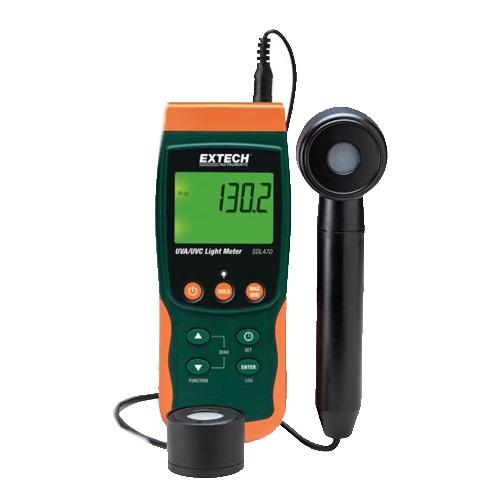 Fotómetro de irradiación ultravioleta de onda corta/larga con registrador de datos
