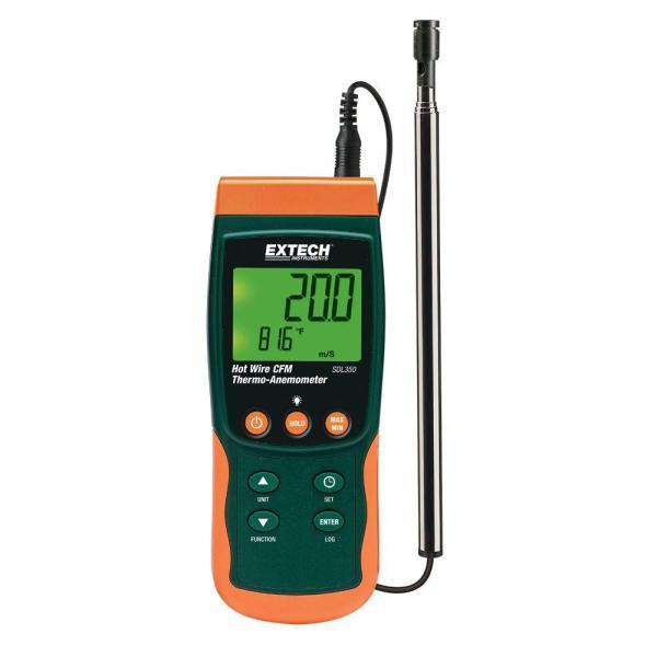 Termoanemómetro de hilo electrocalentado CFM/Registrador de datos