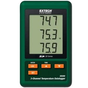 Registrador de datos de temperatura de 3 canales