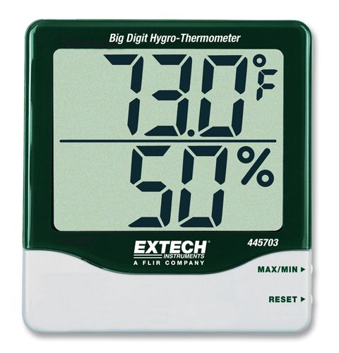 Higrotermómetro con dígitos grandes