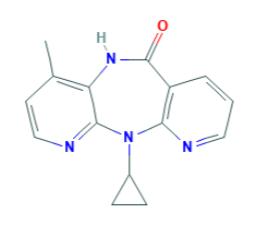 Nevirapina: formula di struttura (fonte: pubchem.ncbi.nlm.nih.gov/)