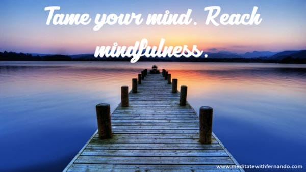 Find inner peace by taming your mind.