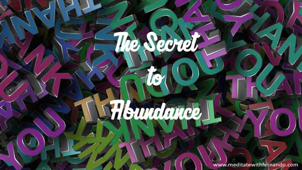 Gratitude meditation to attract abundance.