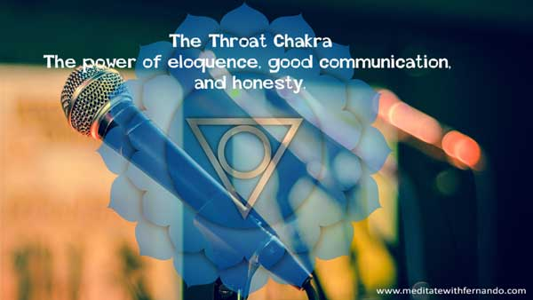 The throat chakra expands our communication.