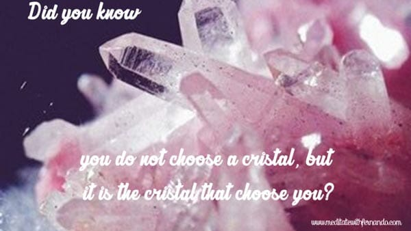 The crystal will desire to go with you, or not. (Did you know 2016)