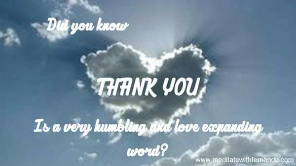 Gratitude materializes abundance. (Did you know 2016)