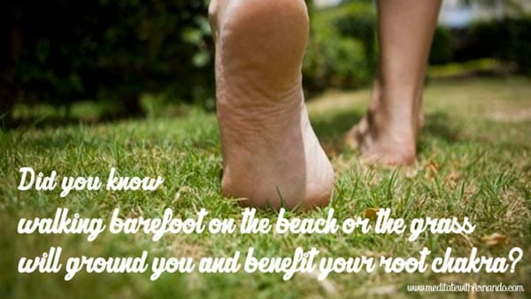 Walk barefoot on the beach or grass and ground. (Did you know 2016)