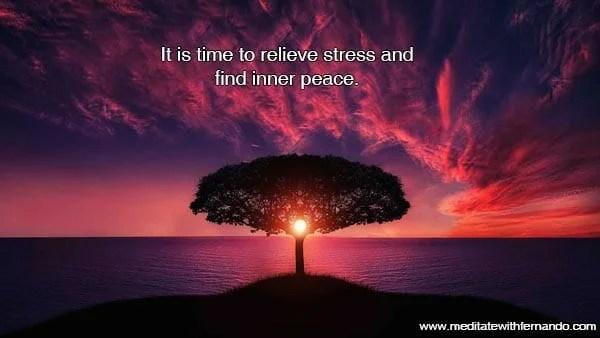Relieve stress now